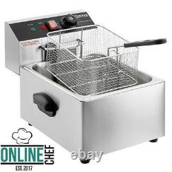 10 Lb Electric Countertop Fryer Light Duty Stainless Steel 110 Volts 1600 Watts