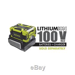 100Volt Brushless Lithium Ion Cordless Electric Snow Blower 5Watt Led Headlights