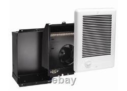 120-Volt Electric Wall Fan Heater 9 in. X 12 in. 1500-Watt Indoor White Cadet
