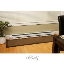 2-PACK Heater Baseboard Electric Floor 60 in. 1,250-Watt 240-Volt CADET