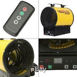 3,750-watt 240-volt dura heat electric forced air garage heater with remote