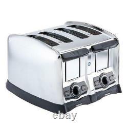 4 Slice Commercial Restaurant NSF Electric Toaster 120 Volt Home Slot 1,650 Watt