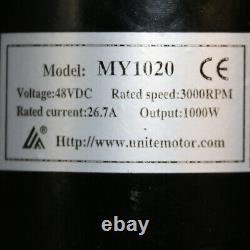 48 Volt 1000 Watt Electric Motor MY1020 48V 1000W 3000RPM Brush Motor Go Kart AT