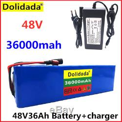 48Volt 36Ah Lithium Ion BMS Battery For 1000Watt Electric E Scooter Bicycle Bike