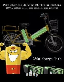 500 Watt FOOD-PIZZA Delivery ELECTRIC BIKE 48Volt 12Ah DUAL BATTERY