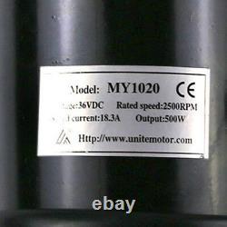 500W Brush Motor Electric Go Kart Motor 36 Volt 500Watts Motor Controller Pedal