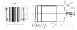72 Volt 2200 Watt Electric GoKart Brushless Motor Gear 585-600 RPM BM1424ZXF