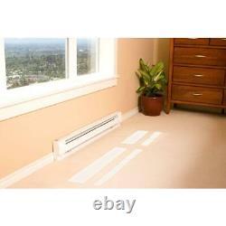 96 in. 2,000/2,500-watt 240-volt electric baseboard heater in white