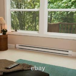 96 in. 2,000-Watt 240/208-Volt Electric Baseboard Heater in White