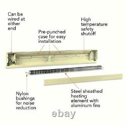 96 inch 2,500-Watt 240/208-Volt Electric Baseboard Heater Almond Convection NEW