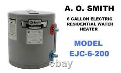 A. O. Smith EJC-6-200 Residential 6g Electric Water Heater 120Volts & 2500 Watts