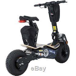 BIG Wheel Electric Scooter 1600 watt Motor 48 volt Battery Seat MT-Mad-1600 Blue