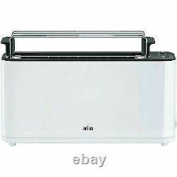BRAUN HT 3110 WH PurEase Toaster 1000 Watts Silver 2 Slots New 220 Volts Only