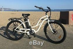 Beach Cruiser Electric Bike 500 watt 48 volt 13 amp E-bike Step Thru Frame