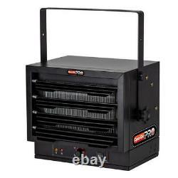 Black 5000 Watt 240 Volt Electric Garage Heater Rugged Light Utility Warmer