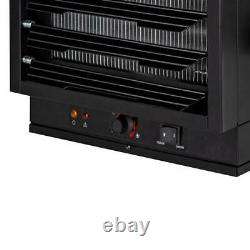 Black 7500 Watt 240 Volt Electric Garage Heater Fan Rugged Light Utility Warmer
