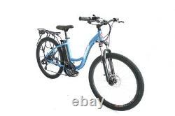 Blue TC-36 Electric 350 Watt 36 Volt Step-Through Women's Mountain Bicycle
