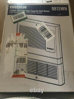 Broan 9815WH 1000-watt 120/240-volt high capacity fanforced wall heater
