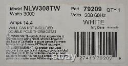 CADET NLW308T, 208 Volt, 3000 Watt, In-Wall Fan-Forced Electric Heater White