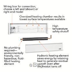 CADET SoftHeat 59 in. 1,000-Watt 240-Volt Hydronic Electric Baseboard Heater