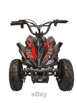 CRAZY QUADS 1000 Watt Electric Children's 36 Volt ATV Quad Bike Black & Red