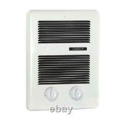 Cadet Bath Heater 1,300-Watt 240-Volt In-Wall Fan-Forced Timer Thermostat White