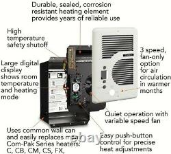 Cadet CEC163TW EnergyPlus 1600-Watt 120/240-Volt In-Wall Electric Wall Heater