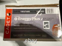 Cadet CEC163TW EnergyPlus 1600-Watt 120/240-Volt In-Wall Wall Heater 65215