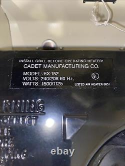 Cadet Com-Pak 1,500-Watt 240-Volt Fan-Forced In-Wall Electric Heater FX-152
