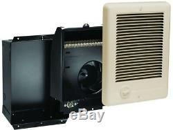 Cadet Com-Pak 1500-Watt 120-Volt Fan-Forced In-Wall Electric Heater in Almond