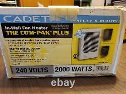 Cadet Com-Pak 2000-Watt 240-Volt Electric, In Wall fan Heater