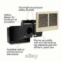 Cadet Com-Pak Twin 4,000-Watt 240-Volt Fan-Forced In-Wall Electric Heater Almond