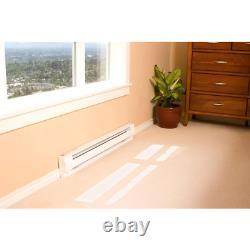 Cadet Electric Baseboard Heater 96 in. 2,000/2,500-Watt 240-Volt in White
