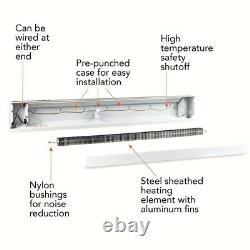 Cadet Electric Baseboard Heater 96 in. White 2000-2500-Watt 240-Volt Convection