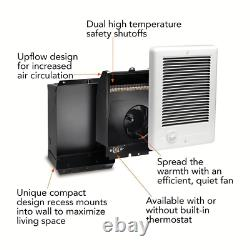 Cadet Electric Wall Heater Com-Pak 2,000-Watt 240-Volt Fan-Forced in White