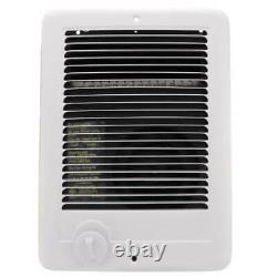 Cadet In-Wall Electric Heater 1000-Watt 120-Volt Thermostat Indoor White