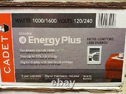 Cadet In-Wall Electric Wall Heater 1600-Watt 120/240-Volt Energy Plus Thermostat