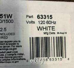 Cadet RMC151 5120 BTU 120 Volt 1500 Watt Heater Unit White