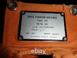 Canadian General Electric Manpack High Frequency Radio AN/PRC 502 1 watt 12 volt