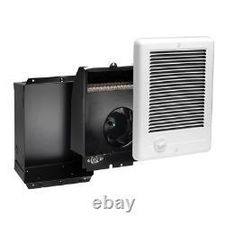 Com-Pak 1,000-Watt 120-Volt Fan-Forced In-Wall Electric Heater White Made In USA