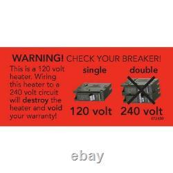 Com-Pak 1,000-Watt 120-Volt Fan-Forced In-Wall Electric Heater in White, No