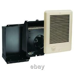 Com-Pak 1500-Watt 120-Volt Fan-Forced In-Wall Electric Heater in Almond