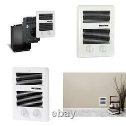 Com Pak Bath 1 000 Watt 120 240 Volt Wall Fan Forced Heater Timer White