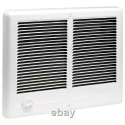 Com-Pak Twin 4,000-Watt 240-Volt Fan-Forced In-Wall Electric Heater in White