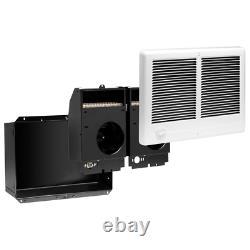Com-Pak Twin 4,000-Watt 240-Volt Fan-Forced In-Wall Electric Heater in White New