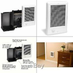 Com-pak 1,000-watt 120-volt fan-forced in-wall electric heater in white cadet