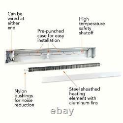 Electric Baseboard Heater 96 in. 2,000-Watt 240/208-Volt Quiet Operation White