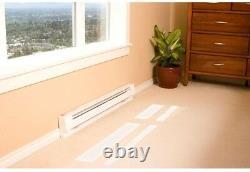 Electric Baseboard Heater White 96 in. 2,000-Watt 240/208-Volt Cordless Quiet