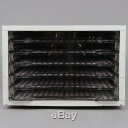 Electric Food Dehydrator 6 Tray Shelves Horizontal Plastic 120 Volts 500 Watts