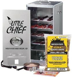 Electric Front Load Smoker 120-Volt 450-Watt Aluminum 4 Racks Grease Pan